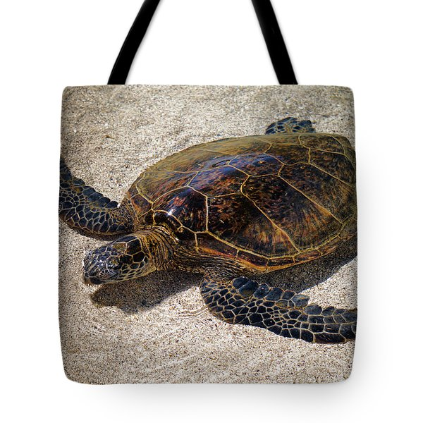 Playful Honu Tote Bag by Pamela Walton