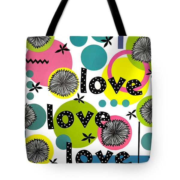 Tote Bag featuring the mixed media Playful Love by Gloria Rothrock