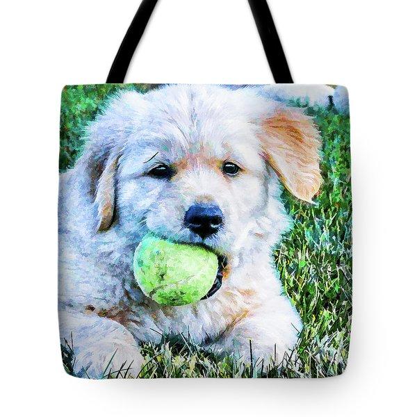 Playful Pup Tote Bag