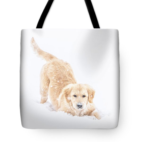 Playful Puppy Tote Bag
