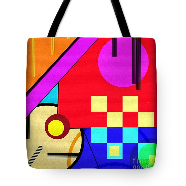 Tote Bag featuring the digital art Playful by Silvia Ganora