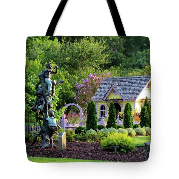 Playhouse In The Garden Tote Bag