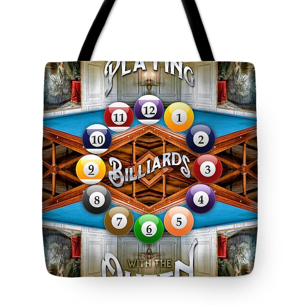 Playing Billiards With The Queen Versailles Palace Paris Tote Bag