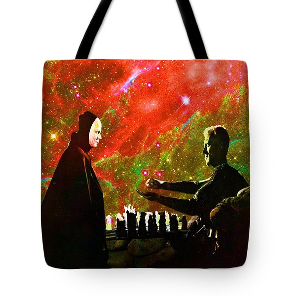 Playing Chess With Death Tote Bag by Matthew Lacey