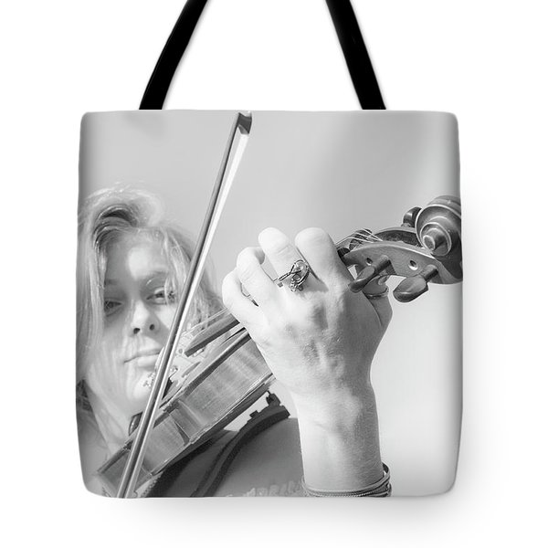 Playing Me Softly Tote Bag by Bob Christopher