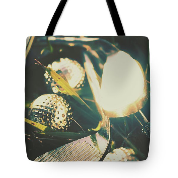 Playing The Golfing Field Tote Bag