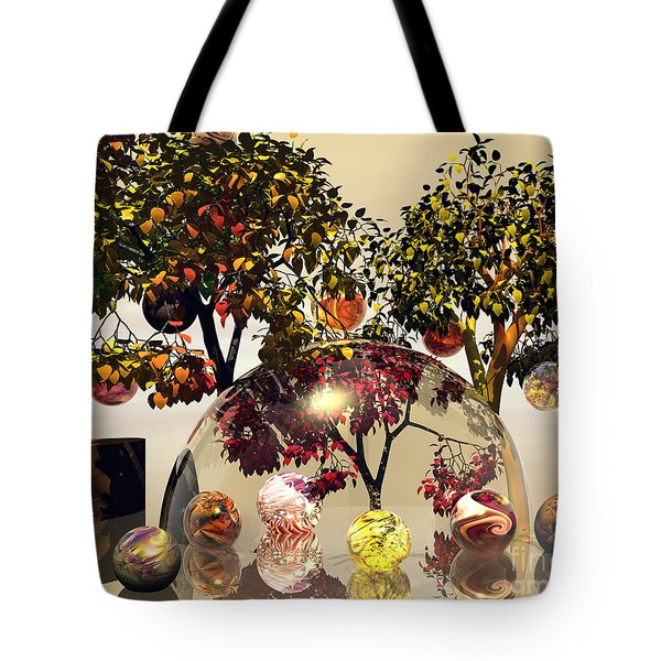 Tote Bag featuring the digital art Playing With Marbles by Michelle H