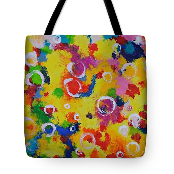 Playing With Soap Tote Bag