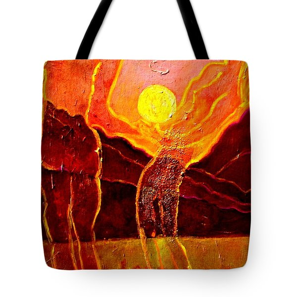 Playing With The Moon Tote Bag