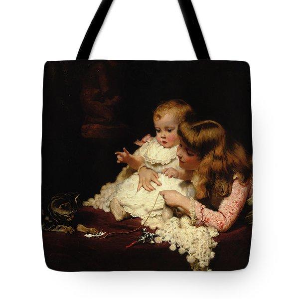 Playmates Tote Bag by Arthur John Elsley
