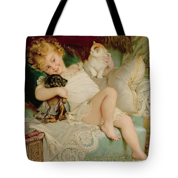 Playmates Tote Bag by Emile Munier