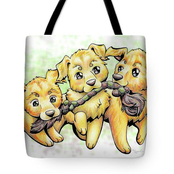 Playtime Golden Retriever Tote Bag