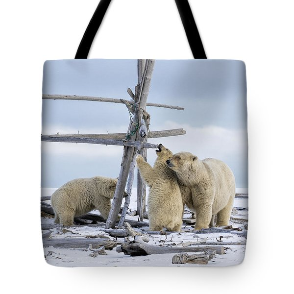 Playtime In The Arctic Tote Bag
