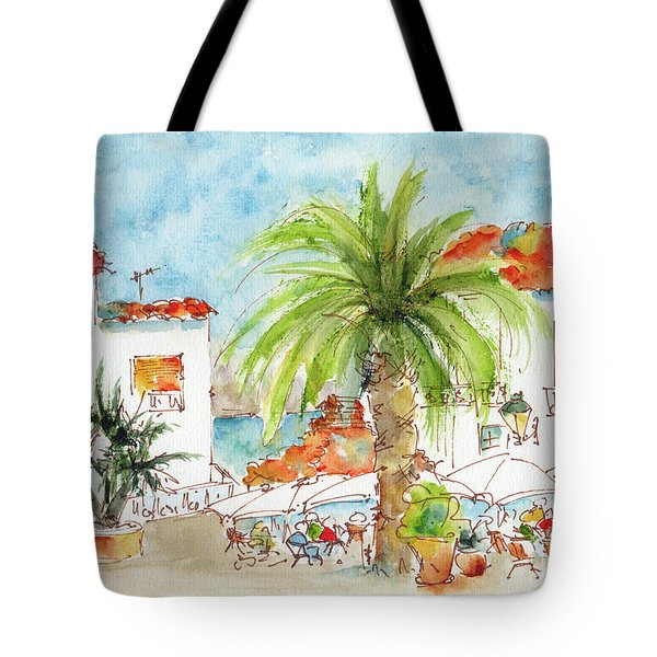 Plaza Altea Alicante Spain Tote Bag