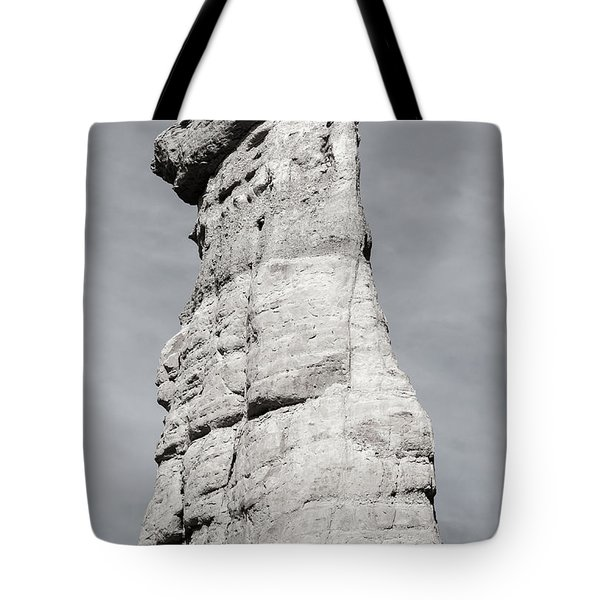 Tote Bag featuring the photograph Plaza Blanca Hoodoo by Britt Runyon
