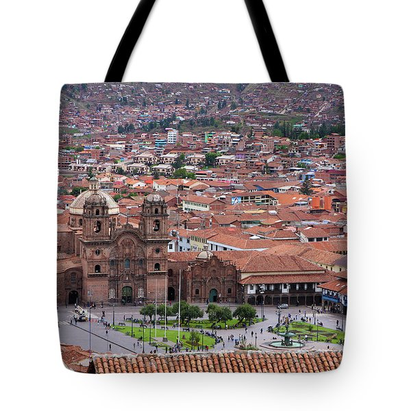 Tote Bag featuring the photograph Plaza De Armas, Cusco, Peru by Aidan Moran