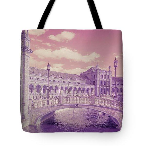 Tote Bag featuring the photograph Plaza De Espana. Dreamy by Jenny Rainbow