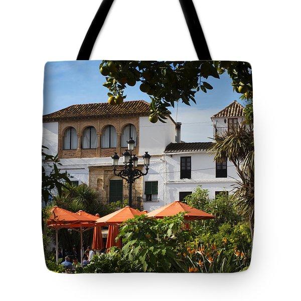 Plaza De Naranjas Tote Bag