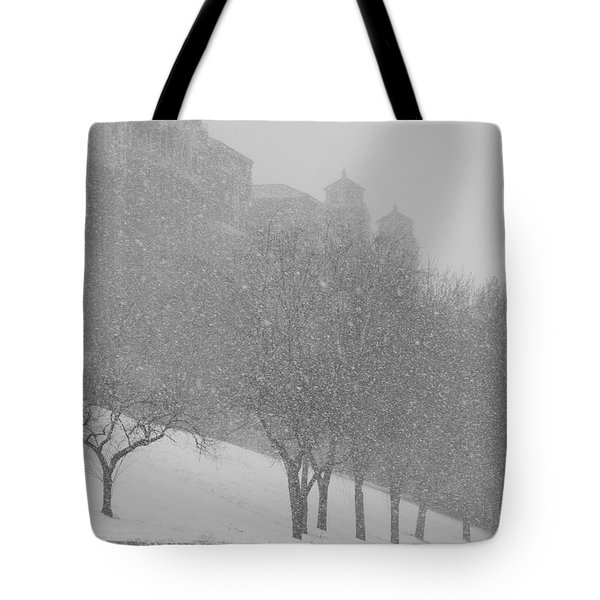 Plaza Impressionism With Kc Snow Tote Bag