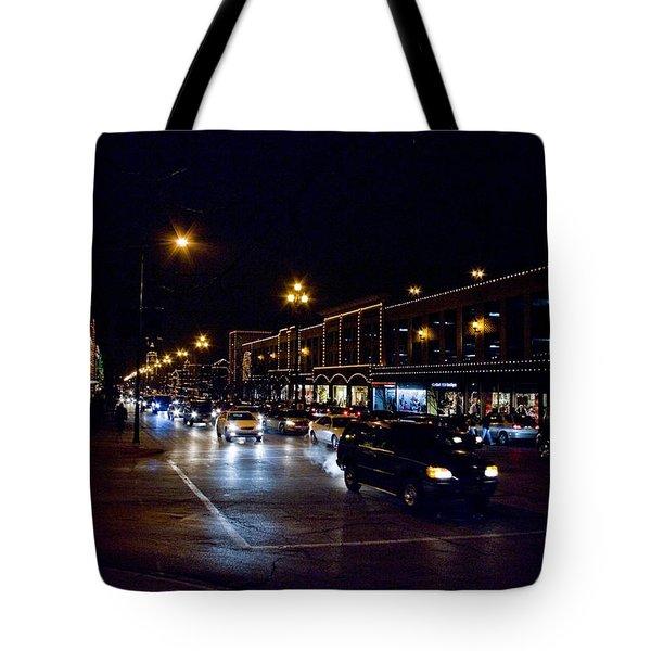 Plaza Lights Tote Bag