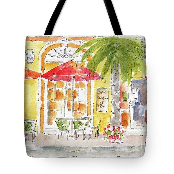 Plaza Machada Mazatlan Tote Bag by Pat Katz