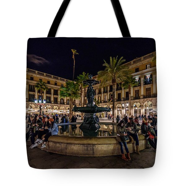 Plaza Reial Tote Bag by Randy Scherkenbach