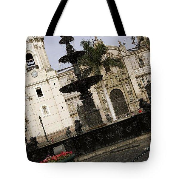 Plaza San Martin Tote Bag