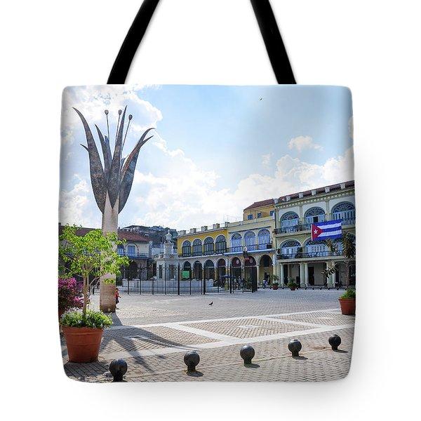 Plaza Vieja Tote Bag