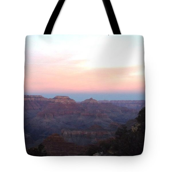 Pleasant Evening At The Canyon Tote Bag by Adam Cornelison