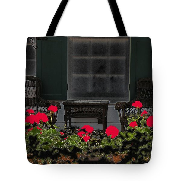 Tote Bag featuring the photograph Pleasant Evening by Rosalie Scanlon