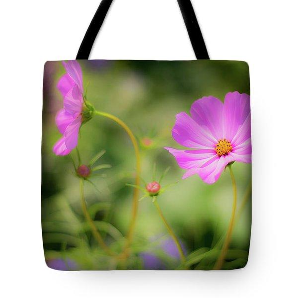 Pleasant Summer Wild Flowers Tote Bag