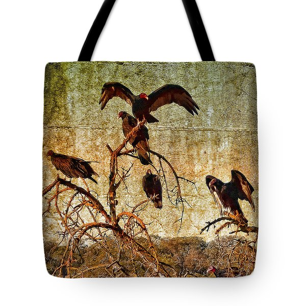 Tote Bag featuring the photograph Pleasanton Vultures by Steve Siri