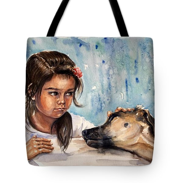 Please, Don't Go Away Tote Bag