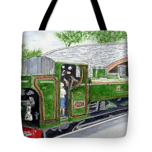 Please May I Drive? - Llangollen Steam Railway, North Wales Tote Bag by Peter Farrow