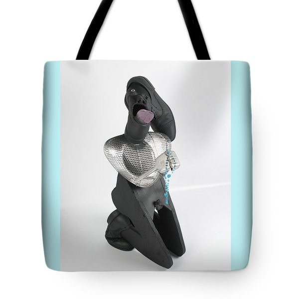 Please Please I' M On My Knees Tote Bag by Michael Jude Russo