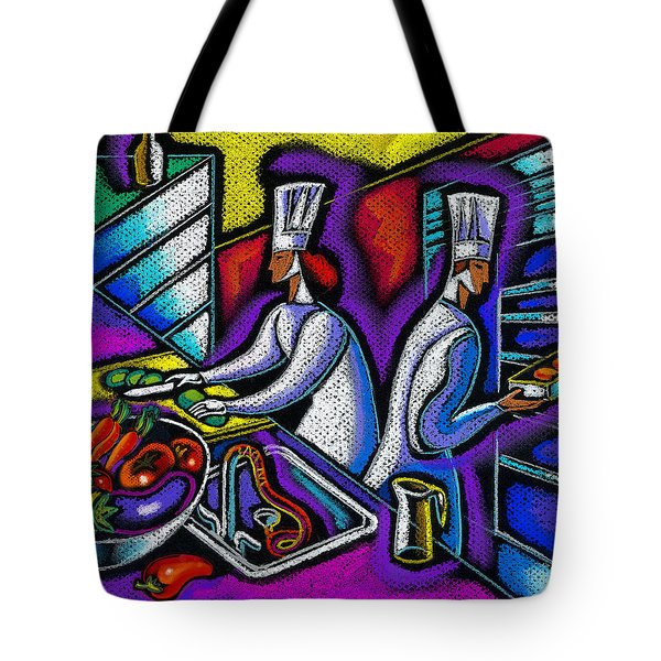 Tote Bag featuring the painting  Pleasure Of The Food Preparation by Leon Zernitsky