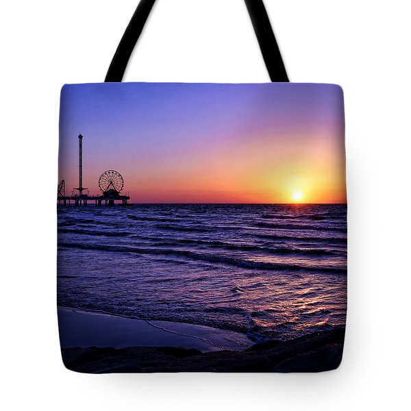 Pleasure Pier Sunrise Tote Bag