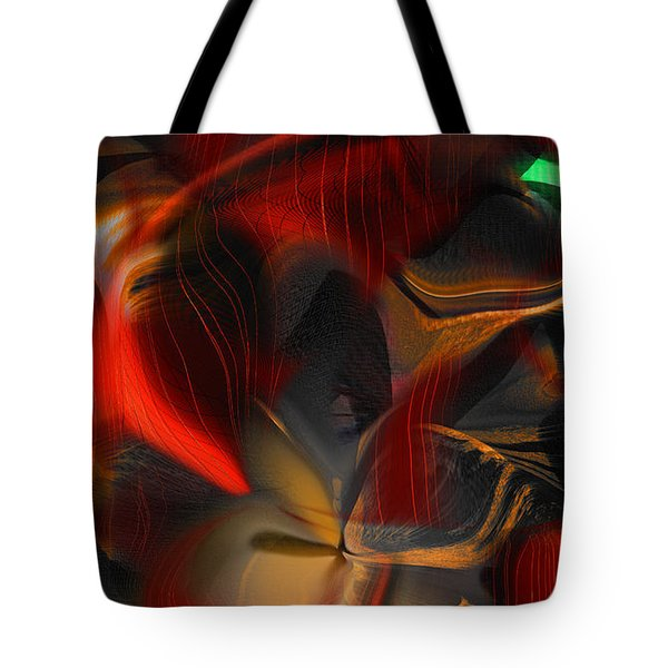 Tote Bag featuring the digital art Pleasure Seeker by Yul Olaivar