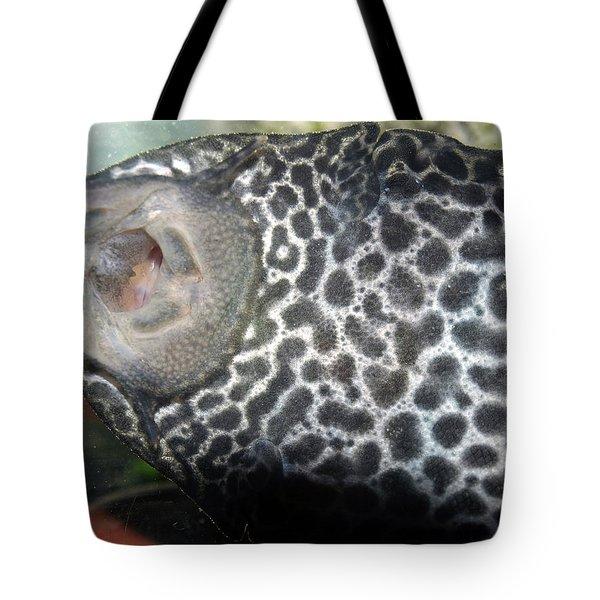 Plecostomus Mouth Tote Bag