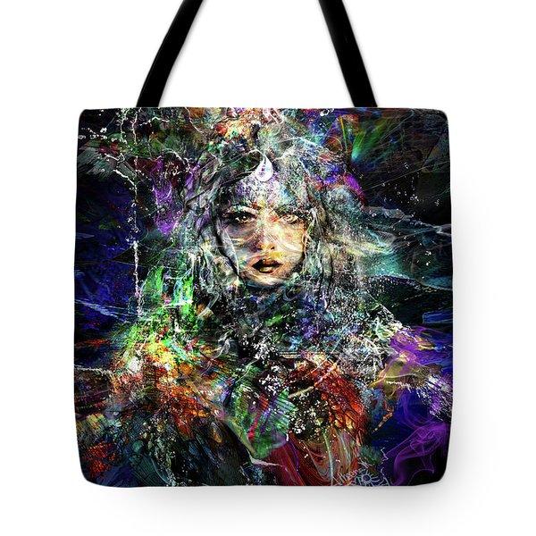 Pleiadian Bird Tribe Priestess Tote Bag