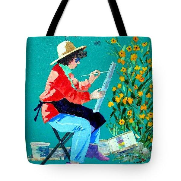 Plein Air Painter  Tote Bag