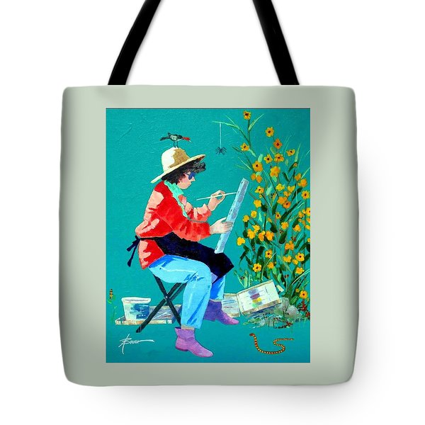 Plein Air Painter  Tote Bag