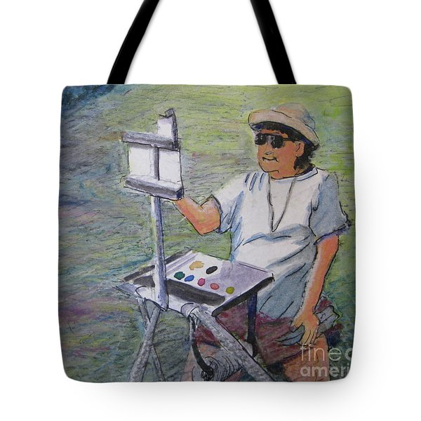 Plein-air Painter Bj Tote Bag by Gretchen Allen