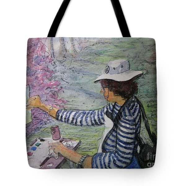 Plein-air Painter  Tote Bag by Gretchen Allen