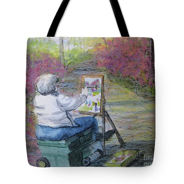 Plein-air Painter Lady Tote Bag by Gretchen Allen