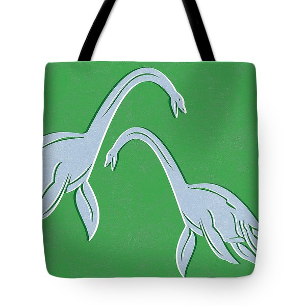 Plesiosaurus Tote Bag by Linda Woods