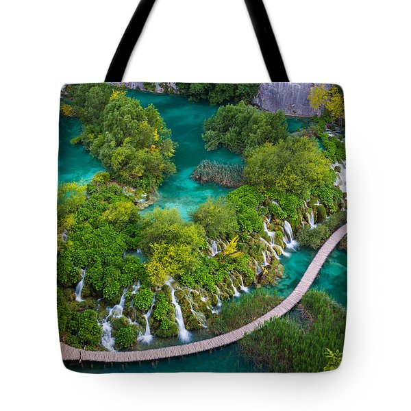 Plitvice Boardwalk Tote Bag