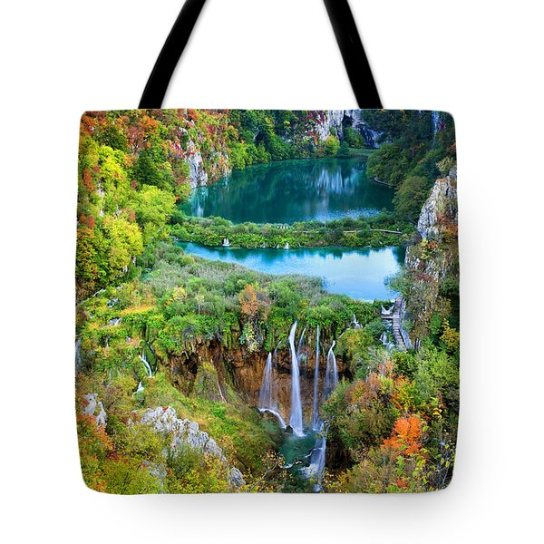 Plitvice Lakes In Croatia Tote Bag