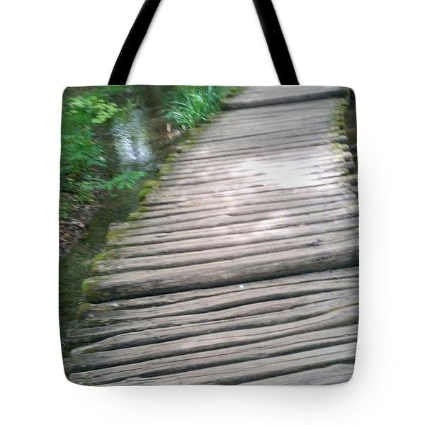 Plitvice Lakes Runway Tote Bag