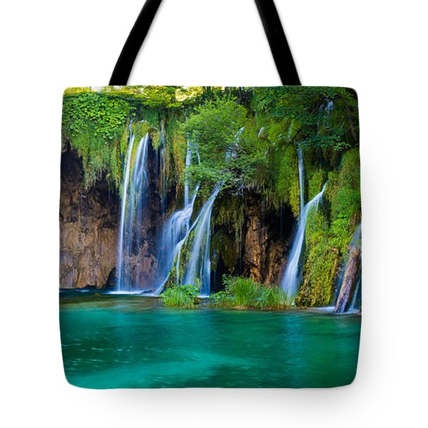 Plitvice Panorama Tote Bag